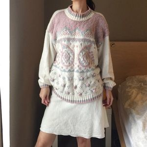 Clovelly Plus Pastel Chunky Sweater.-C4.